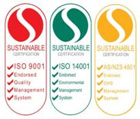 Quality ISO 9001, Health & Safe AS 4801, Environment ISO 14001 Certified
